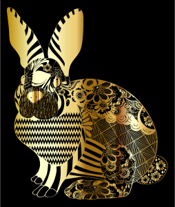 Gold-Floral-Rabbit