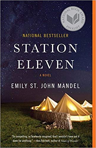 station eleven bookcover w/ tents and grass