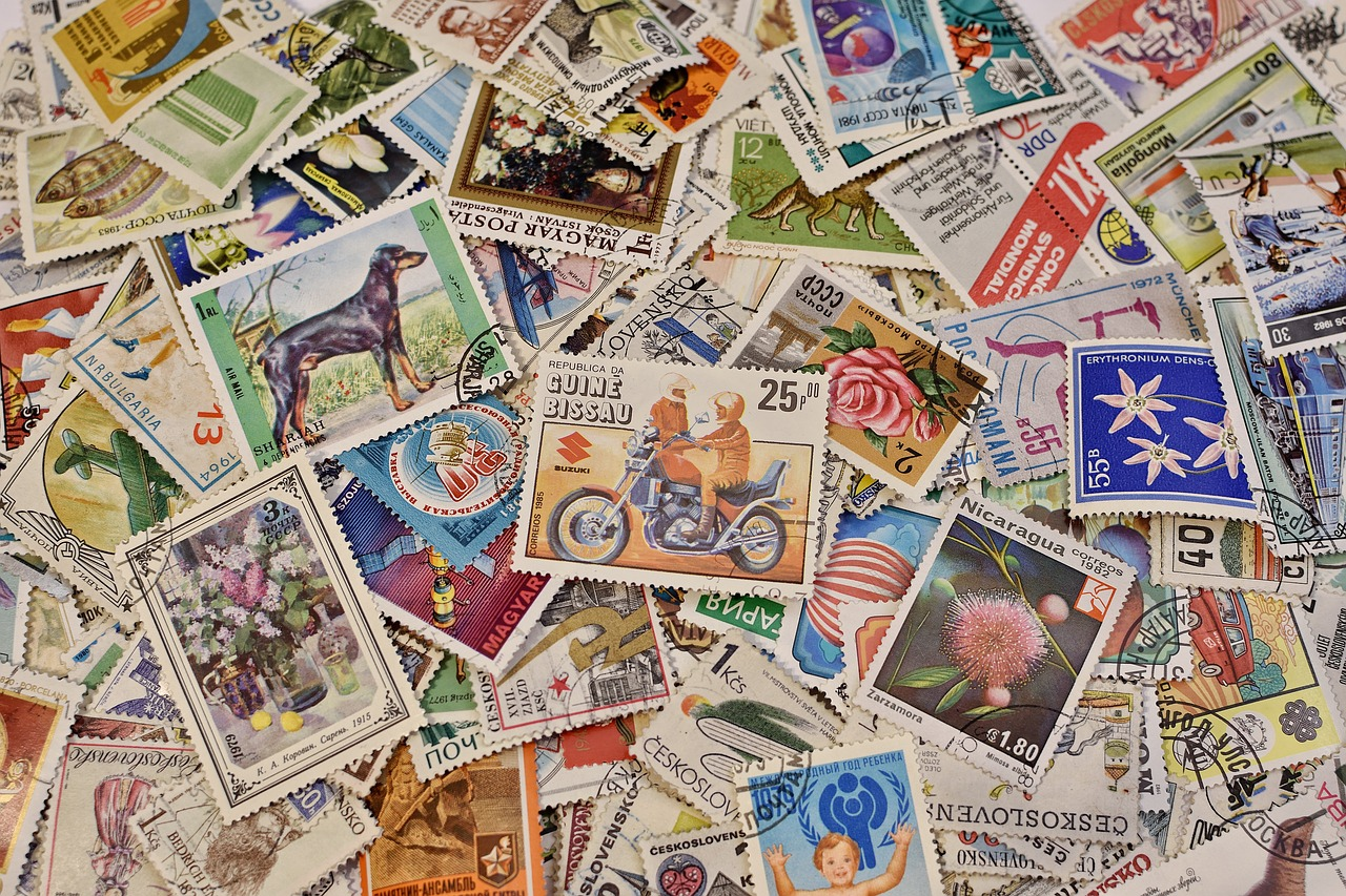 assortment of stamps