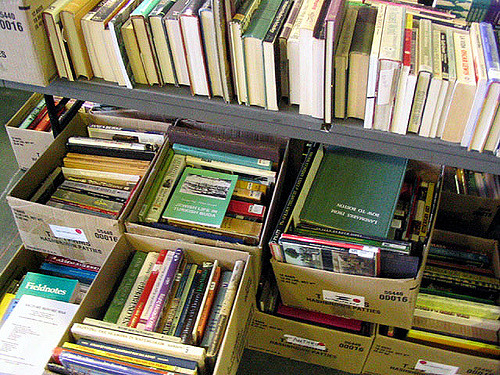 book sale -books in boxes