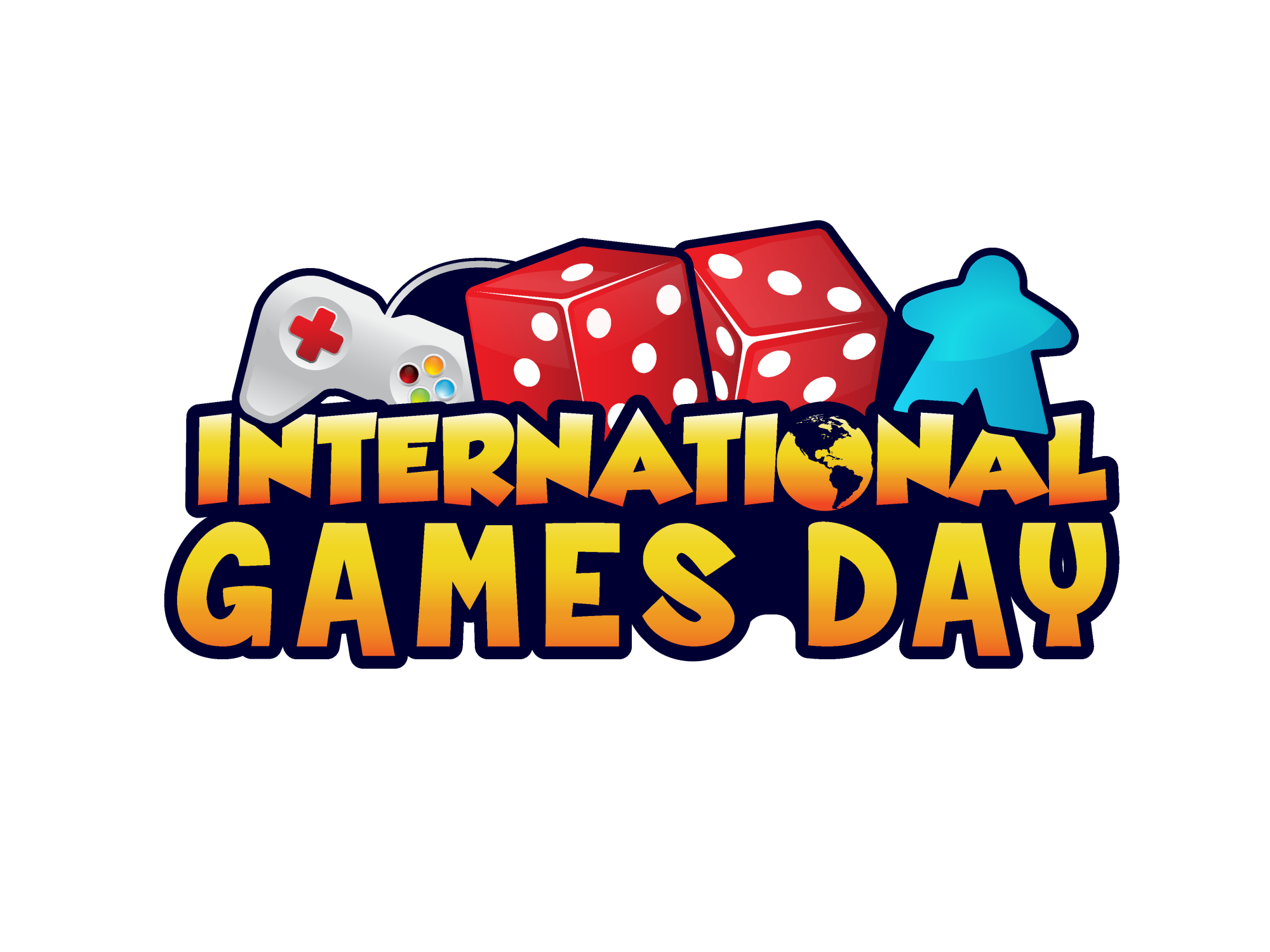 Game Day Logo with dice and game controller
