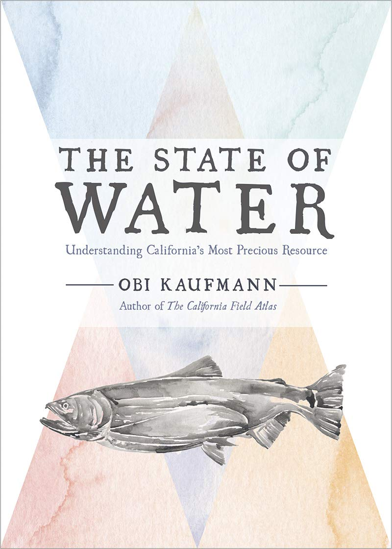 Cover of Obi Kaufmann's book, The State of Water showing an illustration of a fish