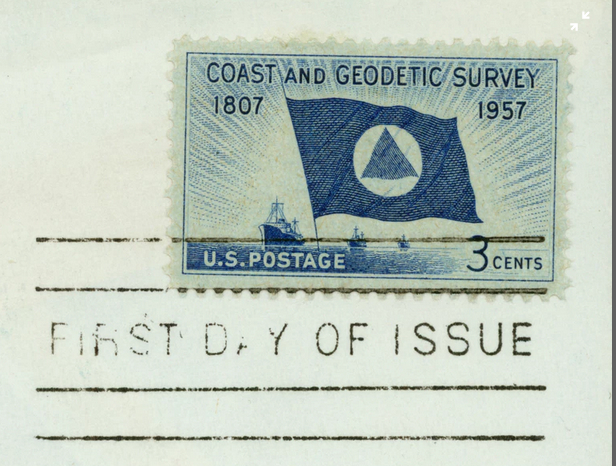 geodetic postage stamp - first day issue