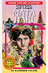 mata hari choose your own adventre book cover with a woman and exotic background