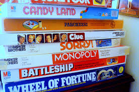 candy land, clue, sorry, monopoly, wheel of fortune, battleship,