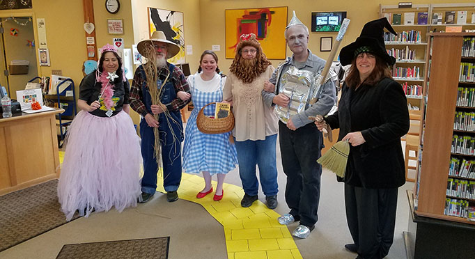 Staff Wizard of Oz at Fort Bragg Library